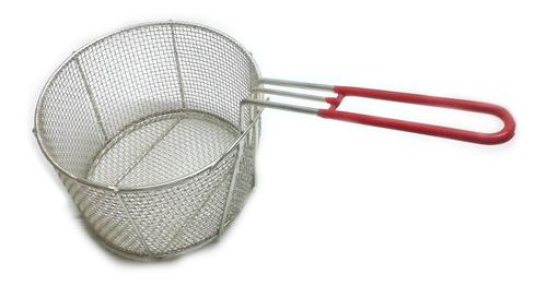 canasto freidor 28 cm redondo alambre estañado mango goma