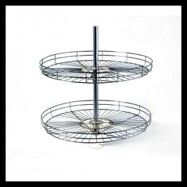 canasto giratorio bajomesada cromo 60 cms - herrajes bonzini