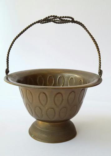 canasto jarron fuente bronce