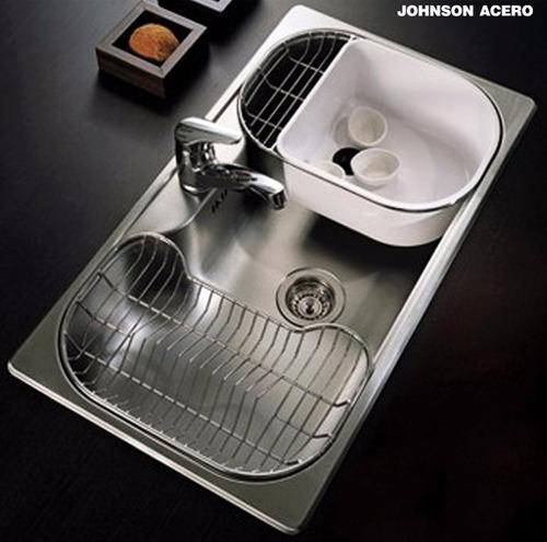 canasto johnson secaplatos luxor acero mini cuotas