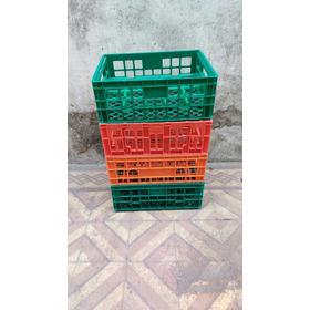 Canasto Para Bici De Plastico Reforzado Apilables 40x33x16cm