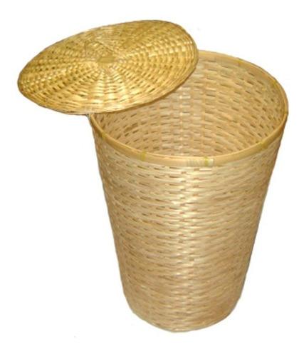 canasto para ropa bimbre bambú bano organizador - bric