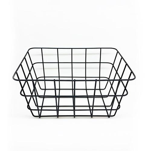 canasto rectangular alambre organizador 24x18x12cm