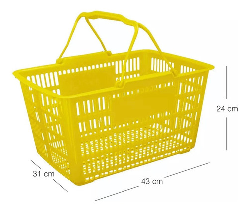 canasto supermercado  43x31x24 varios colores hts