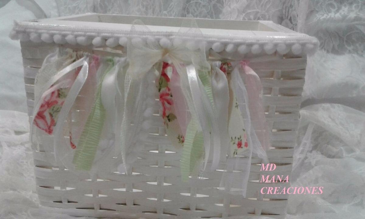 canastos canastitos cajones de mimbre pintados y decorados