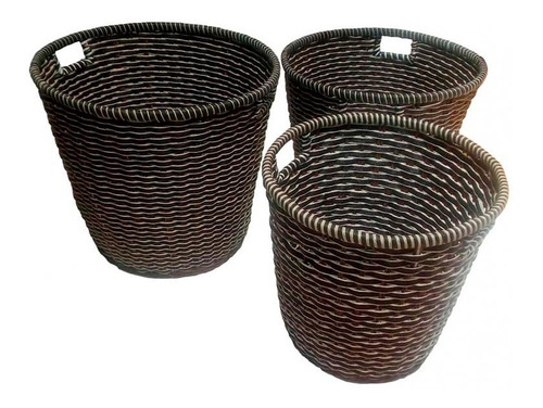 canastos cesto mimbre bambu macetero solo tamaño gran - bric