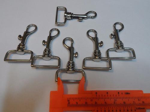 cancamo mosqueton 28 mm x  6,5 cm paquetes de 12 unidades
