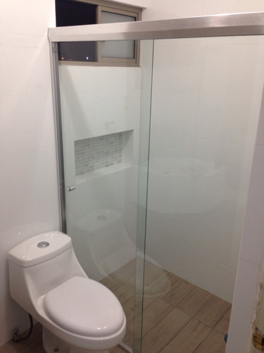cancel corredizo para baño de cristal templado 6mm