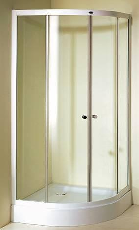 Cancel curvo de cristal templado para regadera 4 780 for Puertas para regadera