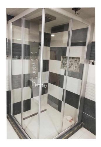 cancel de baño en cristal templado 100x100 en escuadra