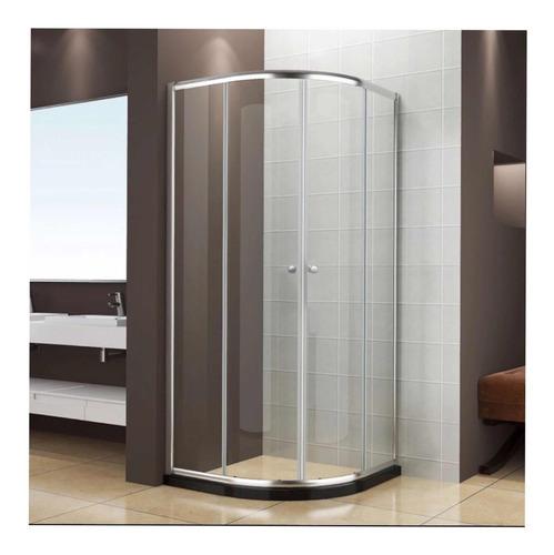 cancel de baño ovalada 100x100 cristal templado aahry
