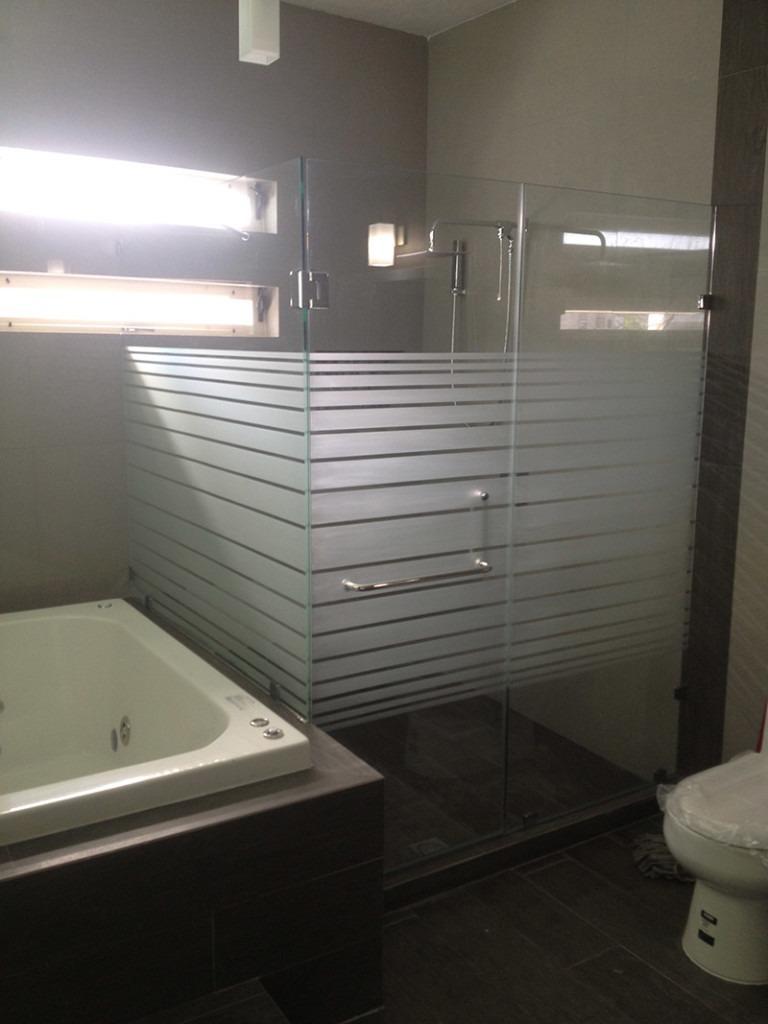Cancel de ba o vidrio templado 1 en mercado libre for Bano con piso de cristal