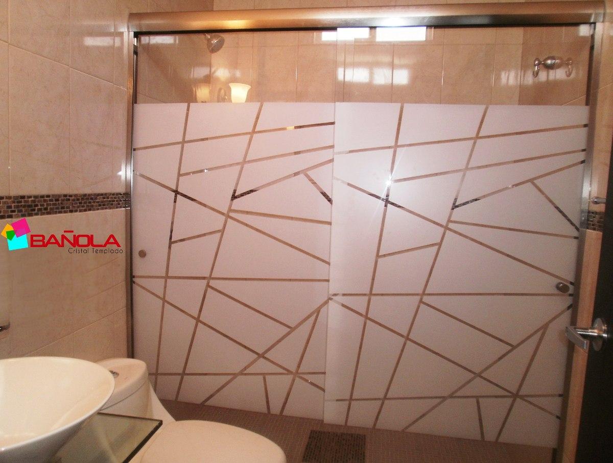 Cancel para ba o cristal templado de 1 52m decorado for Puertas de cristal templado precios