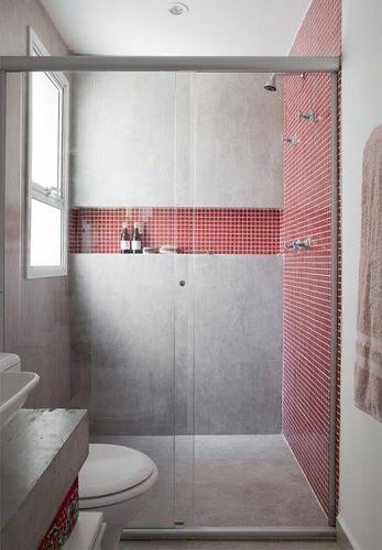 cancel para baño de vidrio templado 120x180 centímetros