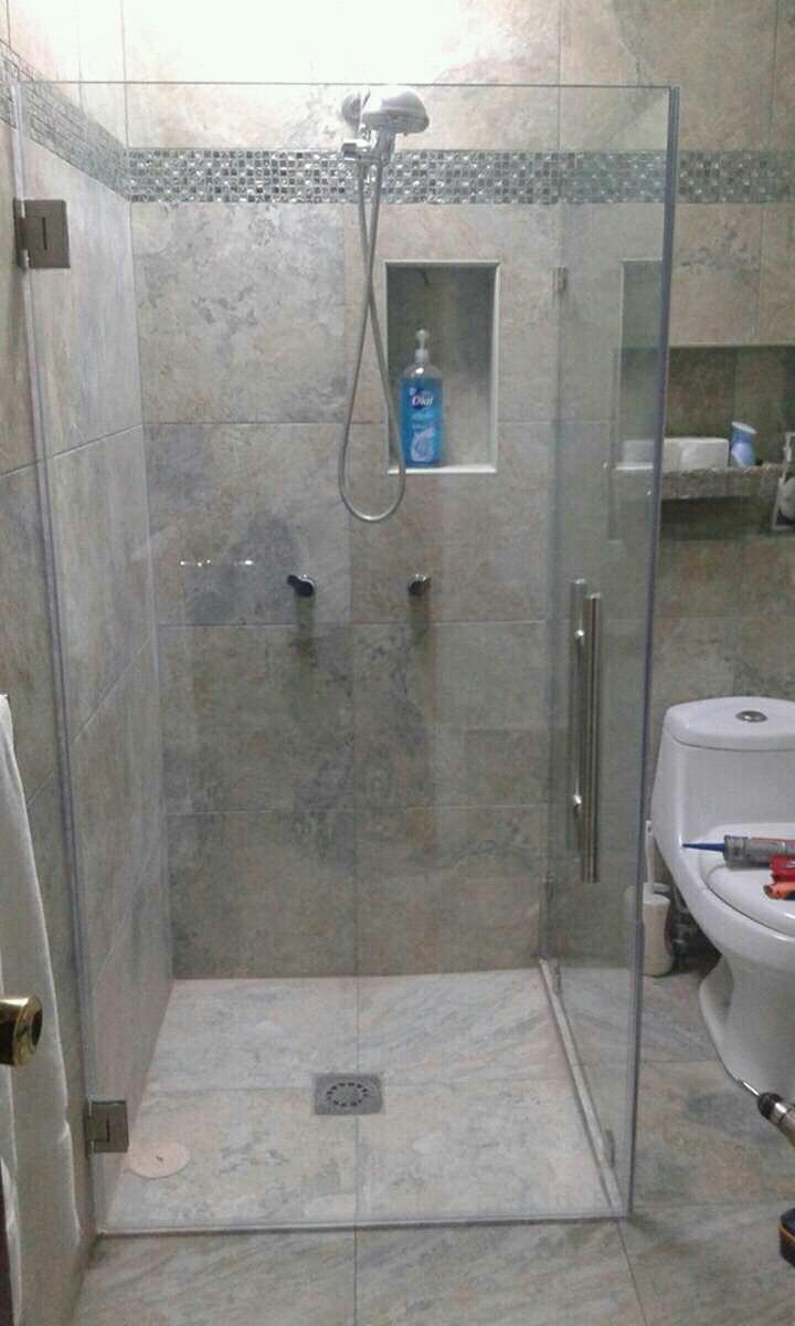 Canceles de ba o en vidrio templado y acrilico en mercado libre - Vidrios para duchas ...