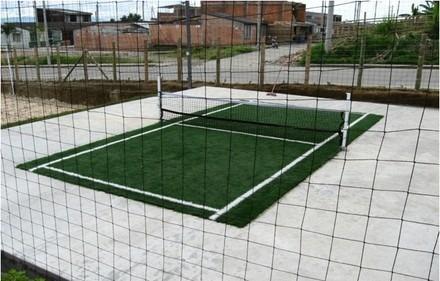 36560e8931e3e Cancha De Futbol Tenis De Césped Sintético A Medida Con Red ...