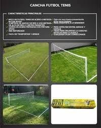 cancha de fútbol tenis kit súper completa calidad única