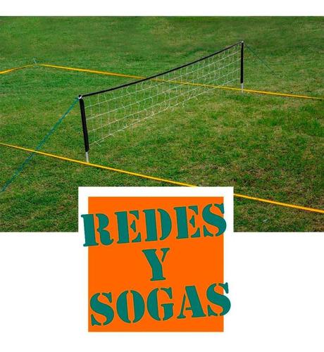 cancha futbol tenis 8x4.m completa red parantes líneas bolso
