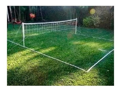 cancha futbol tenis completa kit new red parantes lineas