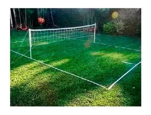 cancha futbol tenis completa kit red 5 mts parantes lineas