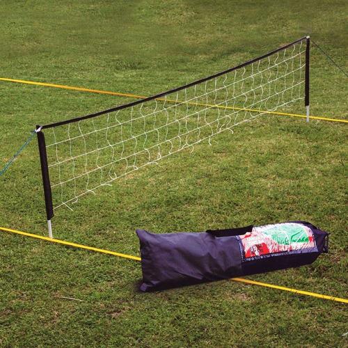 cancha futbol tenis completa kit red parantes lineas bolso