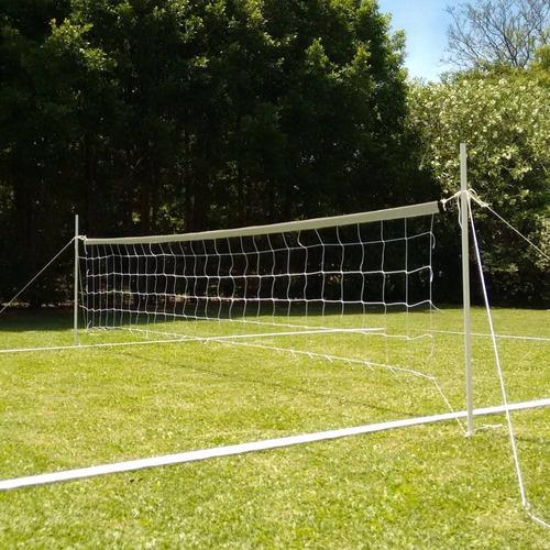 cancha futbol tenis voley completa 6x3m red parantes lineas - resiste lluvia sol - apto cesped arena