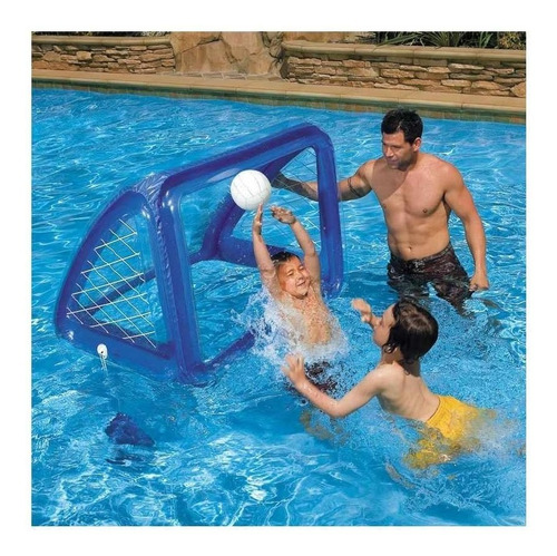 cancha water polo azul inflable