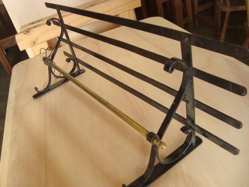 canchera de hierro y bronce ideal decoración campo gauchesco