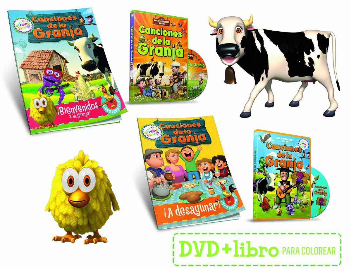Canciones De La Granja 1 Y 2 Dvd + 2 Libros Para Colorear - $ 240,00 ...