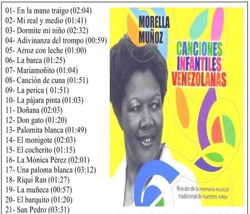 canciones infantiles venezolanas/ combo 4 cd/ niños