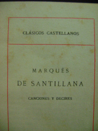 canciones y decires marques de santillana