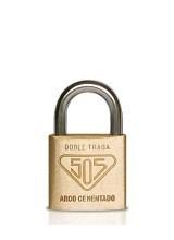 candado 505 bronce macizo 30mm con arco antirrobo + 3 llaves