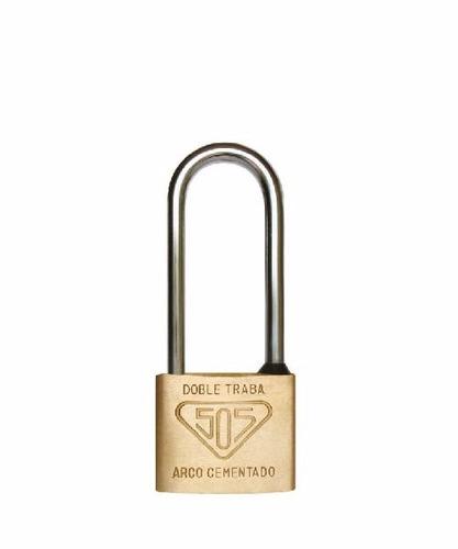 candado 505 bronce macizo 40a6 con arco antirrobo + 3 llaves
