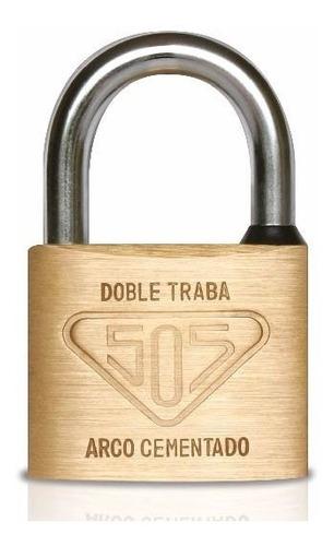candado 505 bronce macizo 50mm con arco antirrobo + 3 llaves