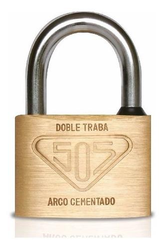 candado 505 bronce macizo 60mm con arco antirrobo + 3 llaves