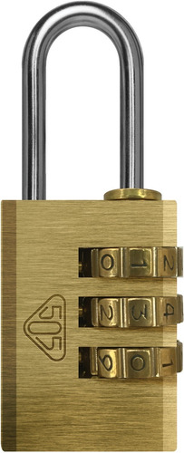 candado 505 bronce macizo c/combinación numérica 20cn