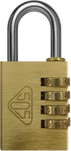 candado 505 bronce macizo c/combinación numérica 40cn