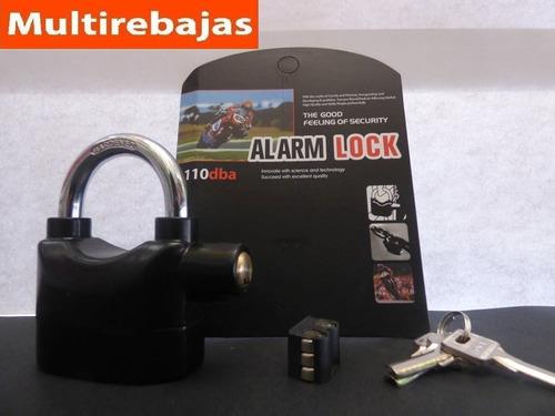 candado anti robo con alarma