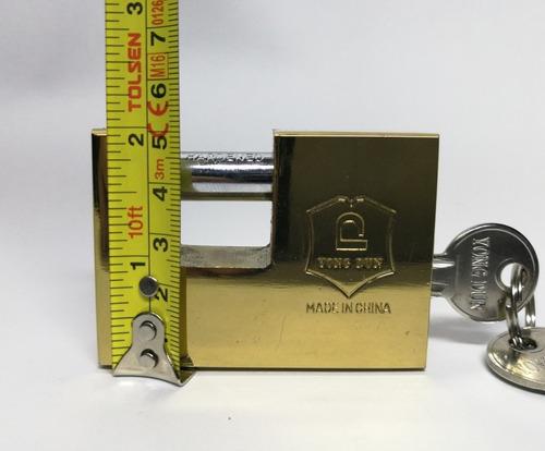 candado anticizalla  rectangular de 70 mm con 3 llaves nuevo