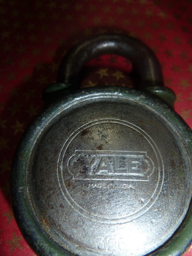 candado antiguo yale made in usa con su llave
