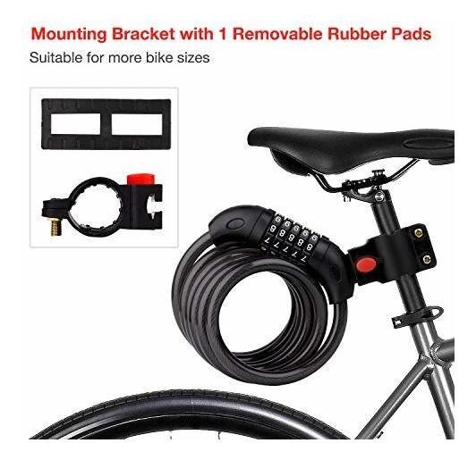 BIGLUFU Cadena Resistente antirrobo con candado para Moto y Bicicleta