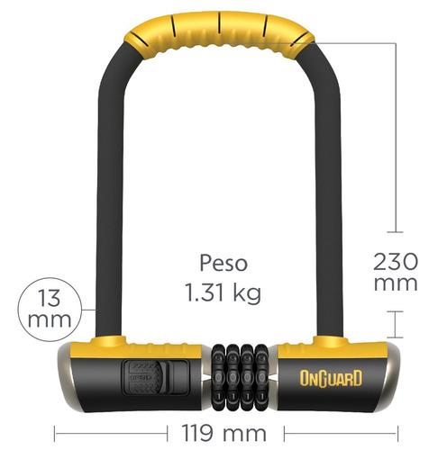 candado bicicleta onguard bulldog 8010 c - tipo u lock