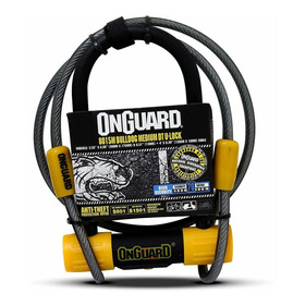 Candado Bicicleta Onguard U-lock Bulldog Medium Dt Cable