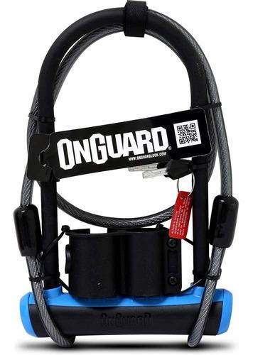 candado bicicleta onguard u-lock neon series dt azul