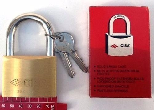 candado cisa original 60mm incluye 2 llaves antigazua