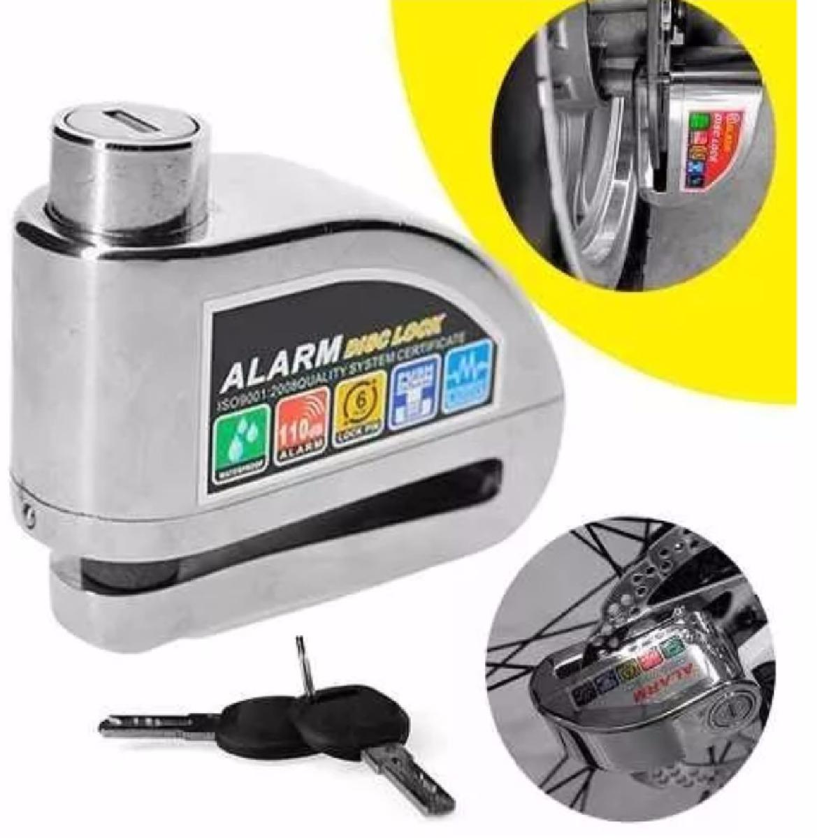 ba10e332c8f21 Candado Con Alarma Para Disco De Frenos Moto