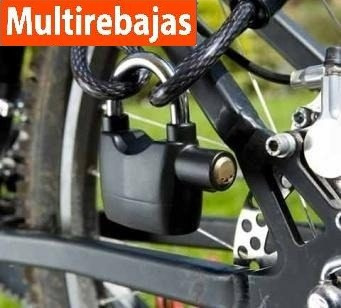 candado con alarma para motos, bicicletas, hogar, etc.....