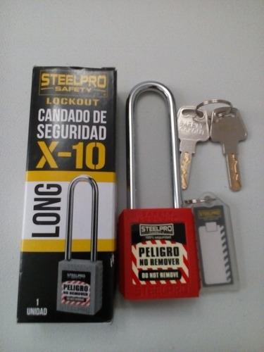 candado de bloqueo lock out x10 steelpro