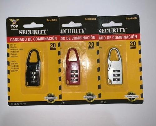 candado de combinación security 20mm 5 verd