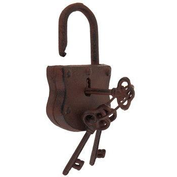candado de hierro fundido oxidado tipo vintage